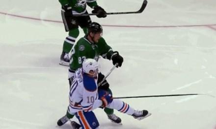 Oilers' Yakupov Takes a Dive