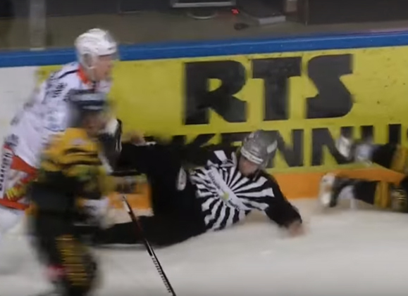 Finnish Linesman Kicked In Chest After Hit