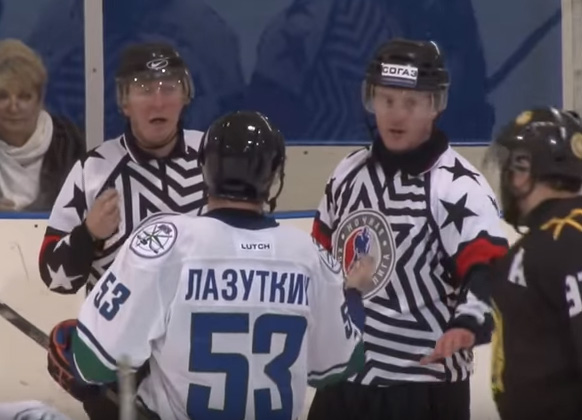 Russian League Line Brawl, Bench Battle Results in 802 PIMs