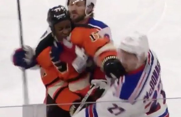 Flyers' Simmonds Ejected For Punching Rangers' McDonagh