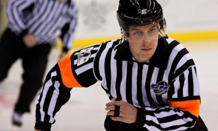 AHL's Peter Tarnaris Successfully Climbing Officiating Ladder