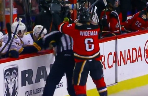 Wideman's Suspension Reduced to 10 Games for Henderson Hit