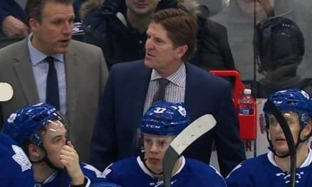 Leafs' Babcock Blasts Refs After 2-1 Loss