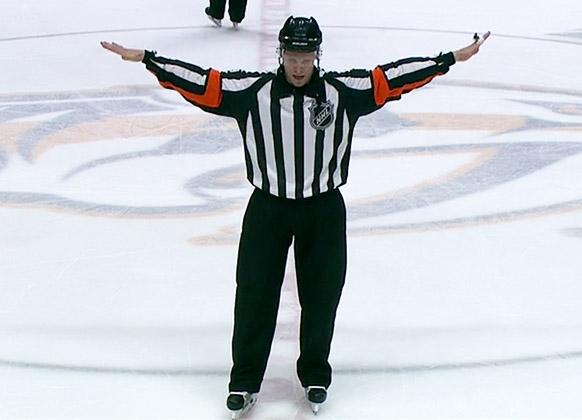 Referee Gord Dwyer
