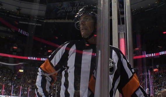 Referee Mike Leggo Mentoring New Refs in AHL