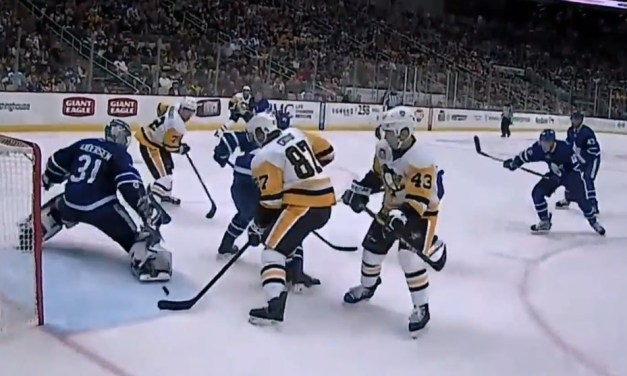 Ref Cam View of Crosby's 10th Goal