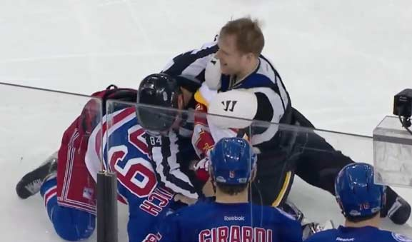 Flames' Versteeg Ejected for Failure to Tie Down Jersey