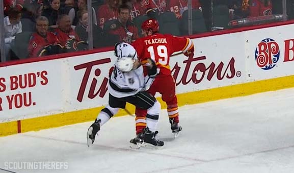 Flames Tkachuk Suspended 2 Games for Elbowing