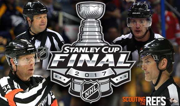 Tonight's NHL Stanley Cup Final Referees & Linesmen – Game 2 – 5/31/17