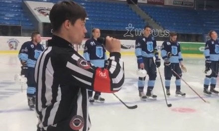 Czech Referee Sings Anthem Before Game