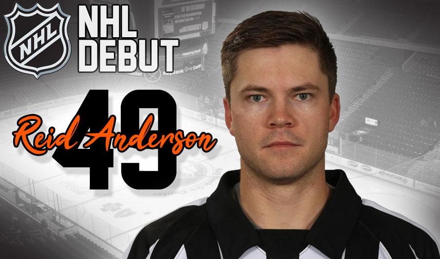 Referee Reid Anderson Making NHL Debut in Buffalo