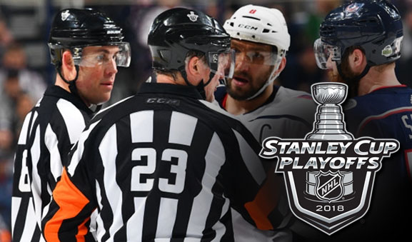 NHL Referees and Linesmen for Round 2 of the 2018 Stanley Cup Playoffs