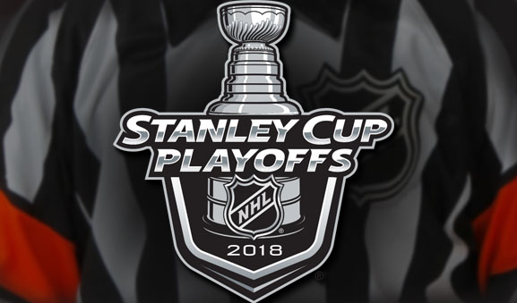 Tonight's NHL Stanley Cup Playoff Referees and Linesmen – 4/27/18