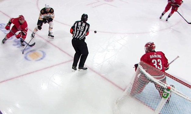 Canes' Goal Waved Off After Puck Deflects Off Referee