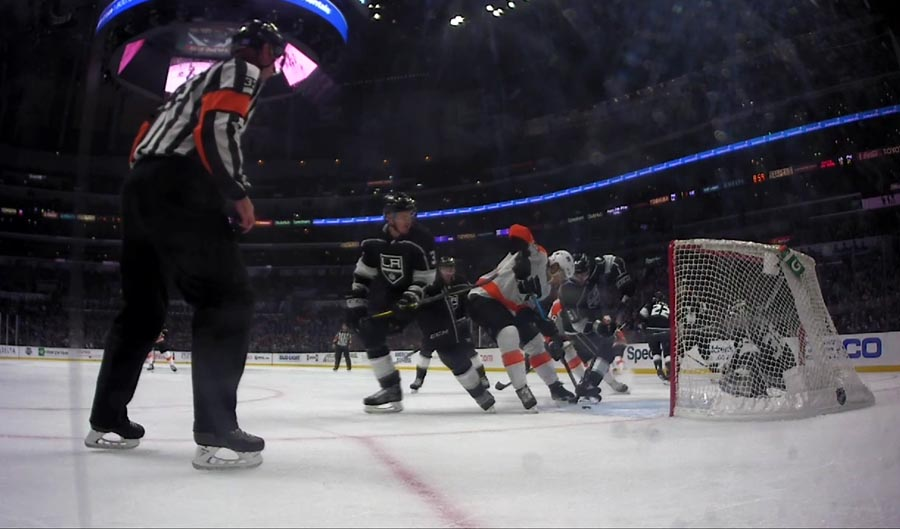 Flyers' Lindblom Scores After Kicked Puck Deflects In