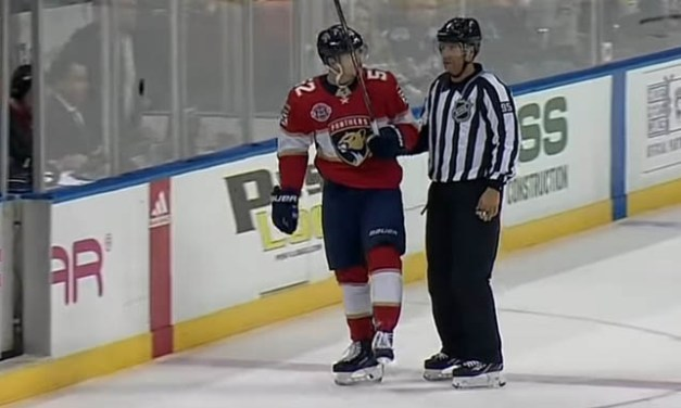 Misconduct for Panthers' Weegar After Nearly Hitting Linesman With Stick