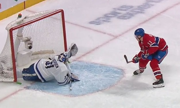 Habs' Gallagher Scores With Net Off Moorings