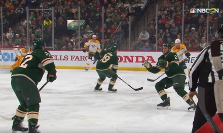 Wild's Fiala Illegally Flips Stick To Teammate; Avoids Penalty