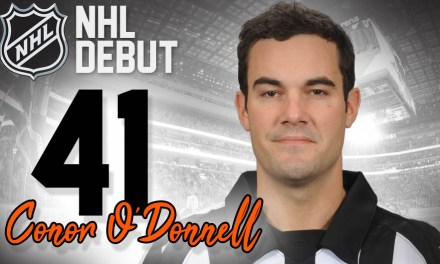 Referee Conor O'Donnell to Officiate First NHL Game