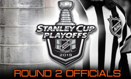 NHL Referees and Linesmen for Round 2 of 2019 Stanley Cup Playoffs