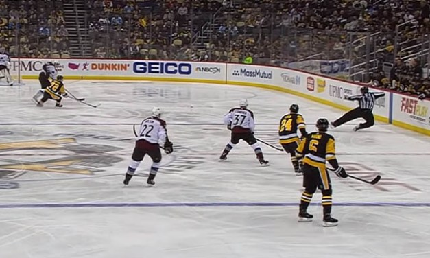 Linesman Michel Cormier Injured at Penguins/Avs