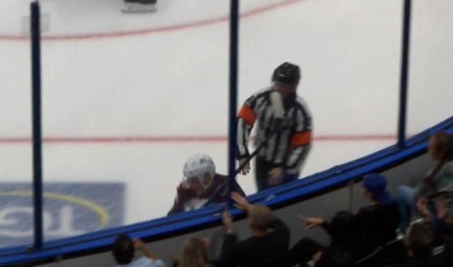 NHL Referee Kelly Sutherland Injured at Avs vs. Lightning