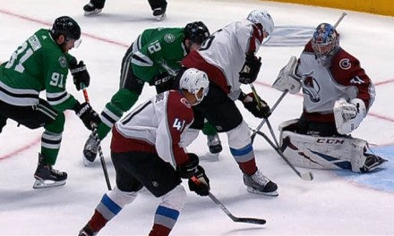 Stars' Faksa Scores with Broken Stick; Goal Stands After Challenge