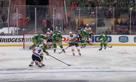 Stars' Perry Ejected from Winter Classic for Elbowing, Awaits Hearing