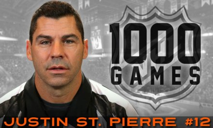 1000 Games for NHL Referee Justin St. Pierre