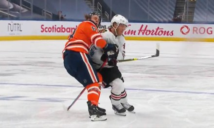 Blackhawks' Caggiula Faces Player Safety Hearing for Hit on Oilers' Ennis