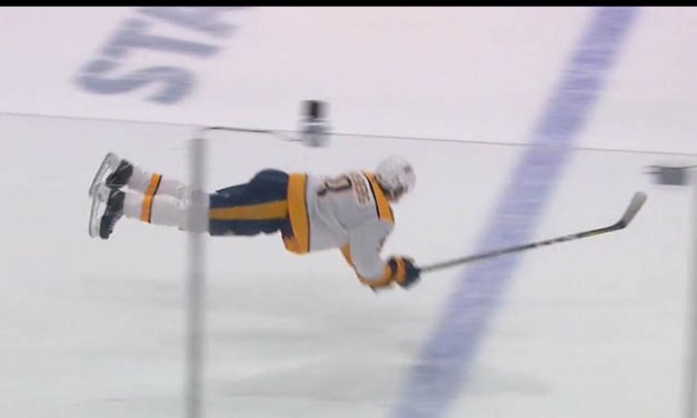 Preds' Forsberg Dives to Avoid Offside