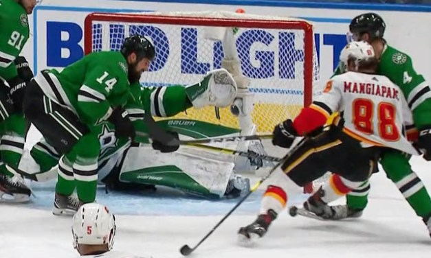 Flames' Mangiapane Has Goal Waved Off For 'Distinct Kicking Motion'