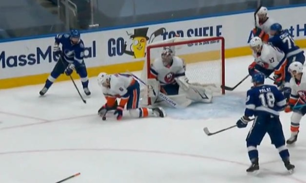 Isles' Pulock Avoids Penalty for Covering Puck