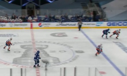 Lightning Goal Waved Off After Isles Challenge for Offside