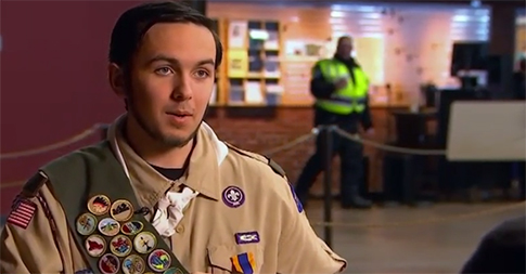 """Scout Saves Father During """"Terrifying"""" Life-threatening Situation"""