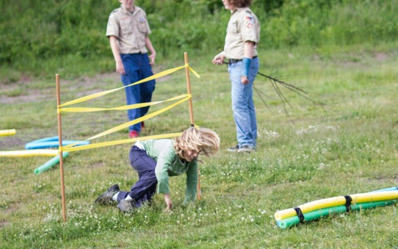 cub scout play obstacle course games