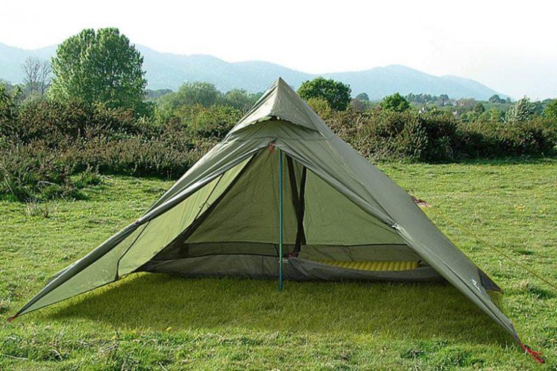 Pyramid tent camping
