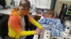 Making homemade masks