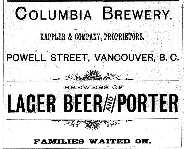 ColumbiaBreweryAd1889