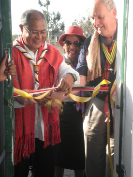 Opening Ceremony: cutting the ribbon