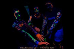 Together 2014: glow in the dark body painting
