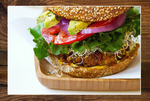 Spicy Chili Veggie Burgers