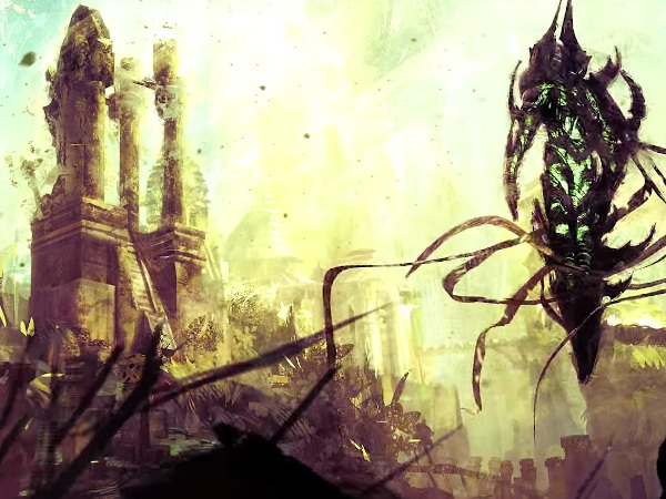 The Guild Wars 2 city of Tarir and an Awakened