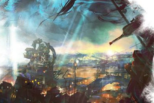 Concept art from the Guild Wars 2 Dragon Bash banner