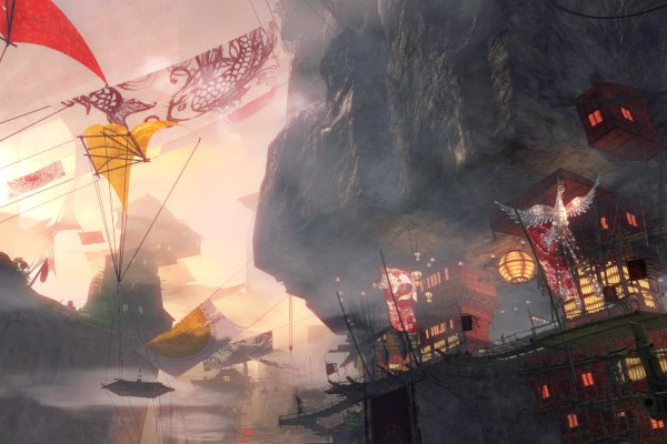 Concept art of the Guild Wars 2 Labyrinthine Cliffs map