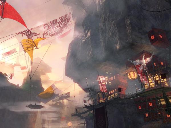 Concept art of the Guild Wars 2 Labyrinthine Cliffs map