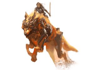 Guild Wars 2 jackal mount concept art