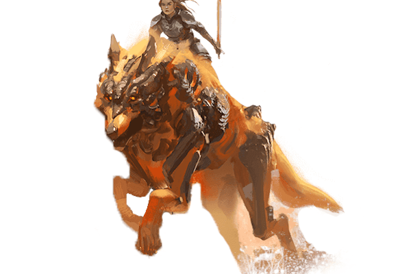 Guild Wars 2 jackal mount concept art
