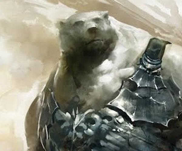 Kodan concept art Guild Wars 2 polar bear race