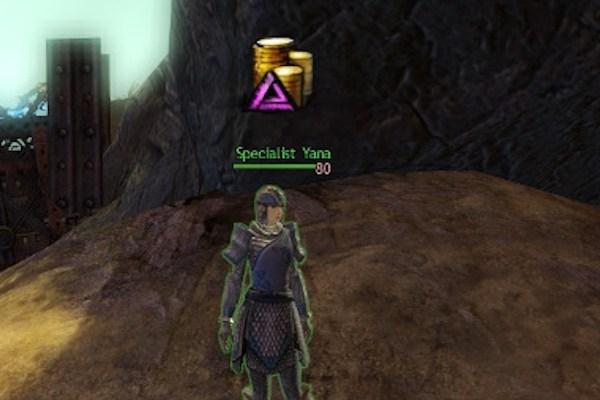 PSNA Specialist Yana selling Guild Wars 2 map bonus rewards